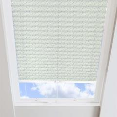 Pleated Skylight Blinds Sprinkle Solar Lime