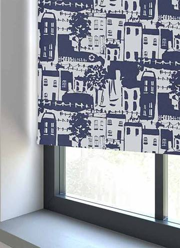 Whitby PVC Blackout Navy Blue