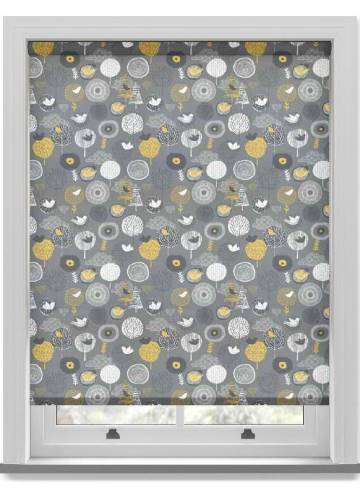 Roller Blinds Birdsong Midnight Grey