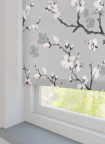 Cherry Blossom Blackout Serenity Grey