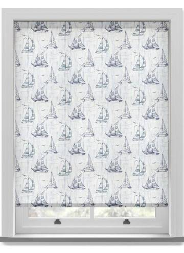 Roller Blinds Sailboat PVC Blackout Blue