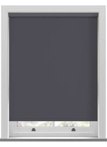 Roller Blinds Shimmer Blackout Quartz Black