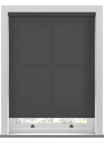 Roller Blinds Unicolour FR Black
