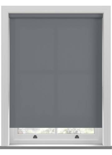 Roller Blinds Unicolour FR Charcoal Grey