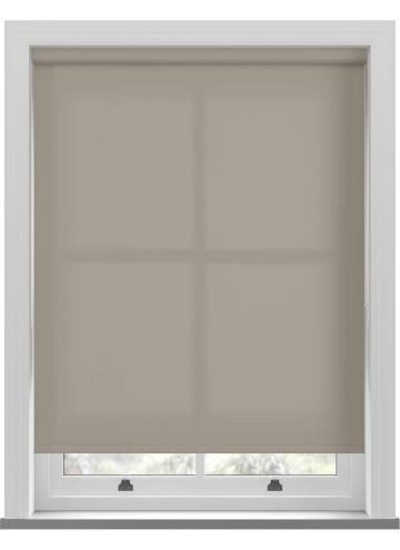 Roller Blinds Unicolour FR Taupe Brown