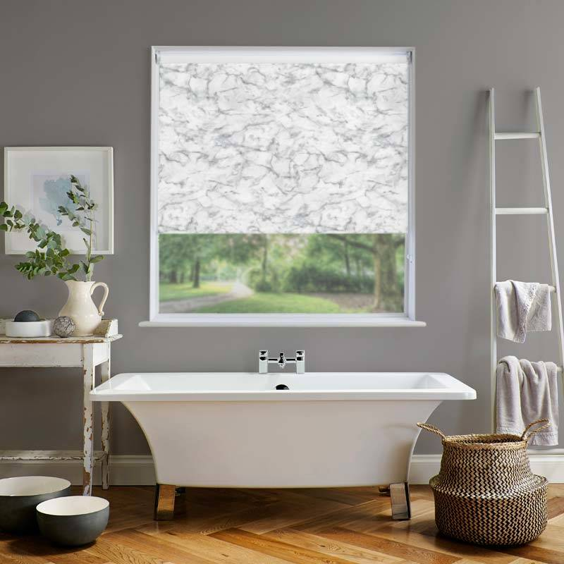 Marble Pvc Blackout Grey Roller Blind Direct Blinds