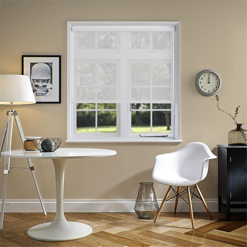 Voile Ice White Translucent Roller Blind Direct Blinds