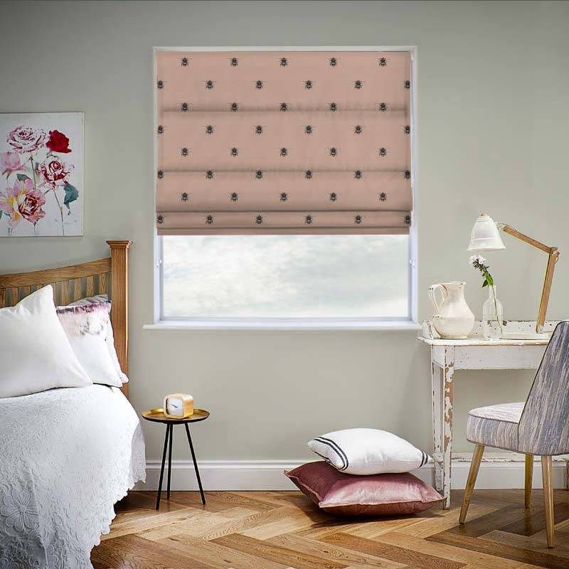 Bumblebee Blush Pink Roman Blind Swift Direct Blinds