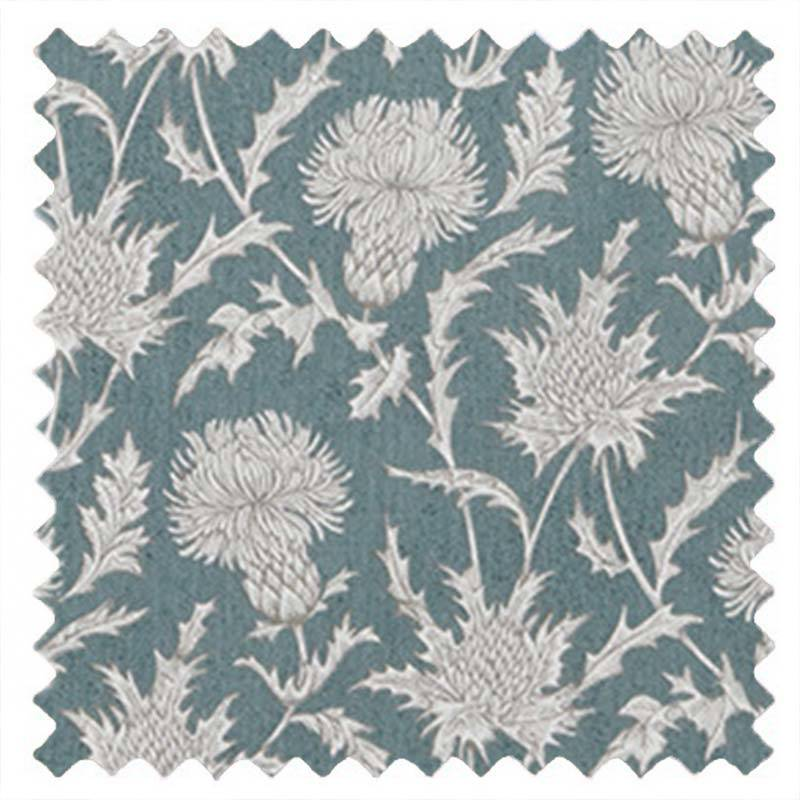 Carlina Thistle Teal Blue
