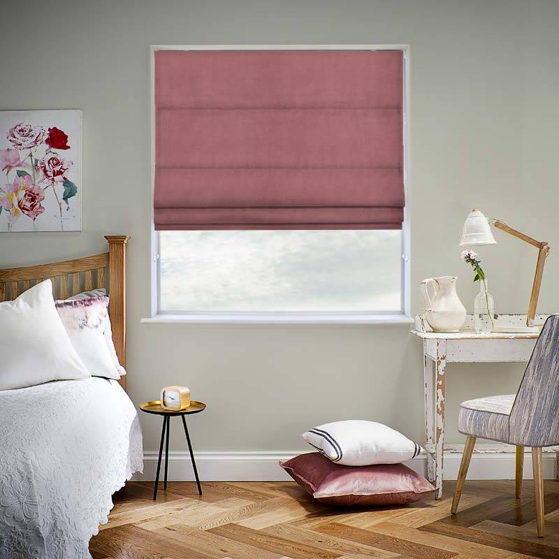 Velvet Dusk Pink Roman Blind Swift Direct Blinds