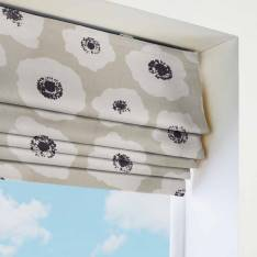 Roman Blinds 70s Poppy Taupe Brown