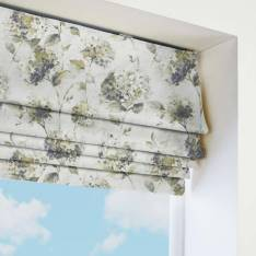 Roman Blinds Angelica Hydrangea Feather Grey