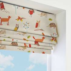 Roman Blinds Autumn Wood Butterscotch