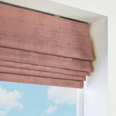 Roman Blinds Azurite Chenille Coral Pink