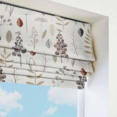 Roman Blinds Cottage Garden Natural