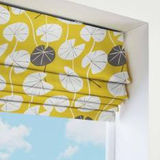 Roman Blinds Lily Pad Saffron Yellow