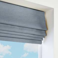 Roman Blinds Orient Faux Silk Sky Blue