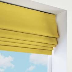 Roman Blinds Santiago Cotton Sunshine Yellow