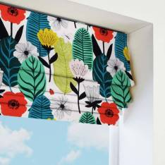 Roman Blinds Scandi Bloom Poppy Red