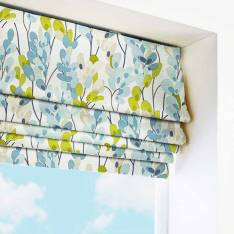 Roman Blinds Twirl Indigo Blue