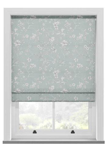 Roman Blinds Etched Vine Eau De Nil