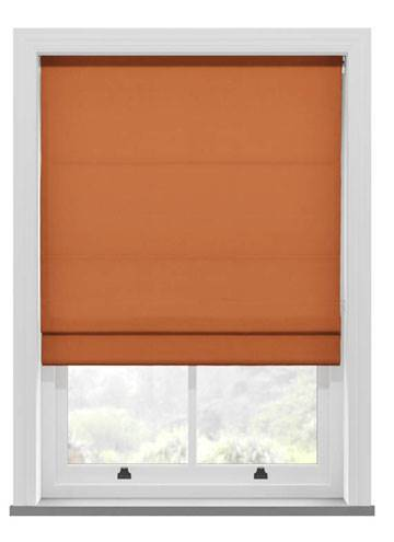Roman Blinds Fagel Orange