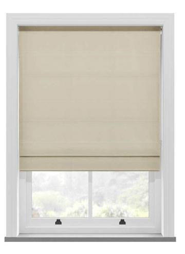 Roman Blinds Faux Suede Cream