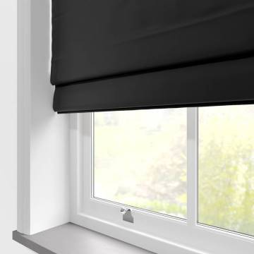 Roman Blinds Faux Suede Deluxe Black