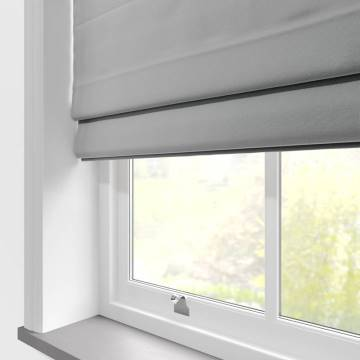 Roman Blinds Malta Mid Grey