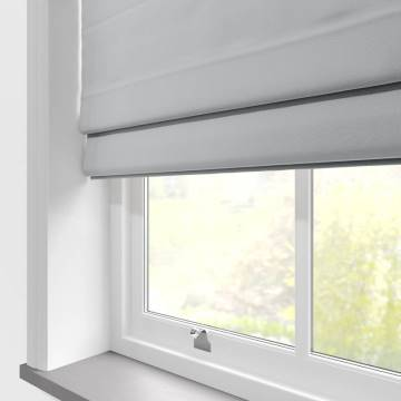 Roman Blinds Malta Silver Grey