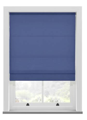 Roman Blinds Orient Faux Silk Indigo Blue