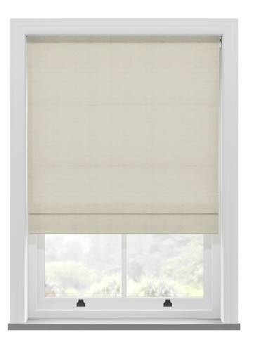 Roman Blinds Orient Faux Silk Oyster Cream