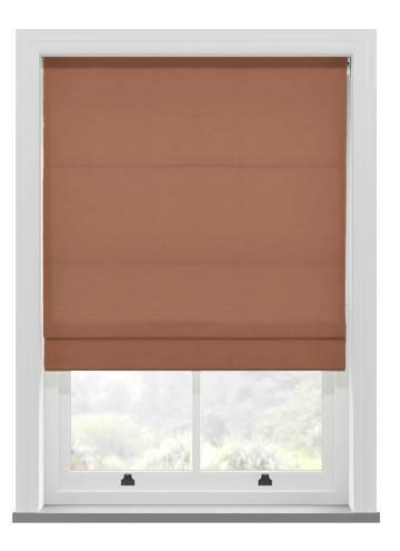 Roman Blinds Orient Faux Silk Rust Orange