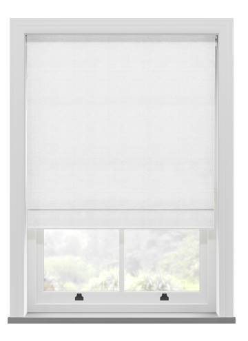 Roman Blinds Orient Faux Silk White