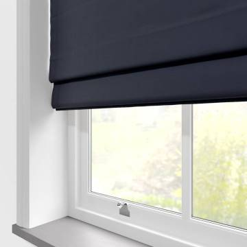 Roman Blinds Santiago Cotton Navy Blue