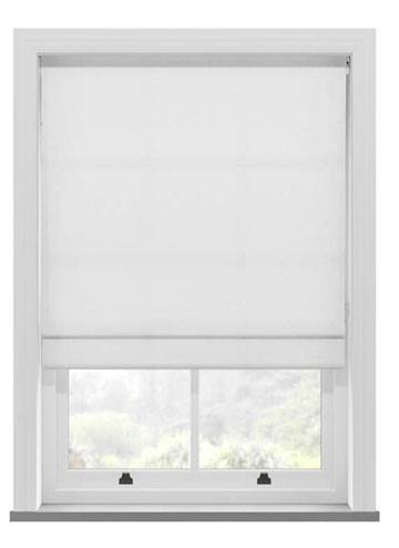 Roman Blinds Santiago Cotton Pure White
