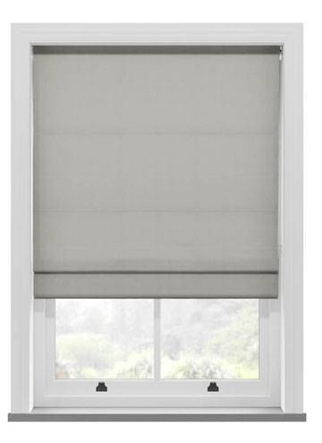 Roman Blinds Santiago Cotton Silver Grey