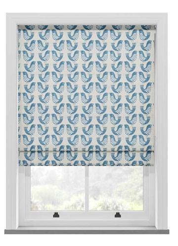 Roman Blinds Scandi Birds Capri