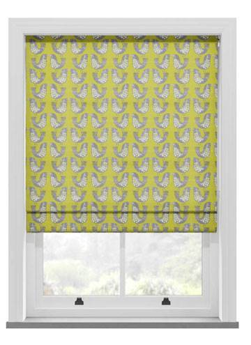 Roman Blinds Scandi Birds Kiwi