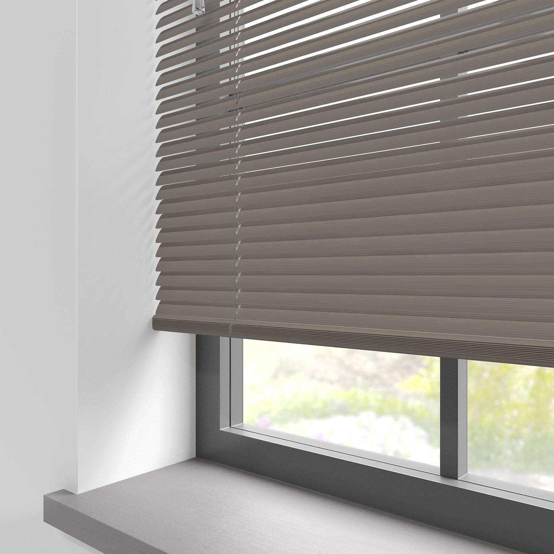 Turin 25mm Striped Taupe