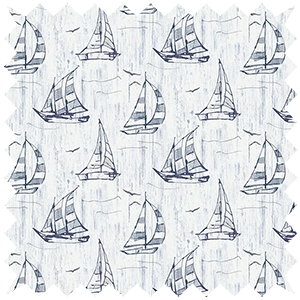 Sailboat PVC Blackout Blue