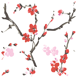 Cherry Blossom Blackout Geisha Red