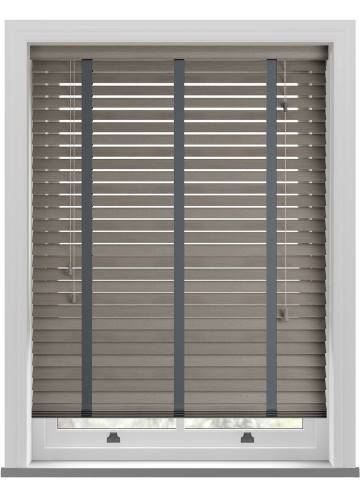 Wooden Blinds Amazon Taped Grey Haze