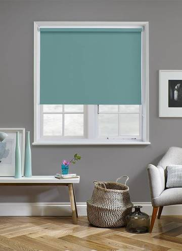Roller Blinds Banlight Duo Blackout Turquoise