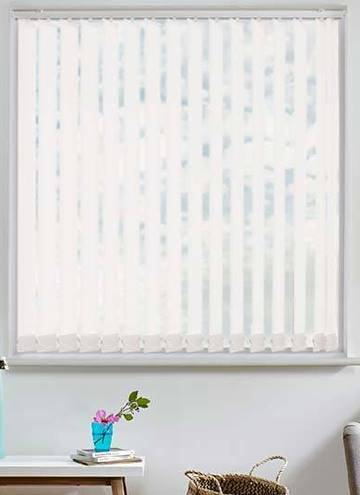 Vertical Blinds Basix Blackout Frost White