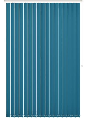 Vertical Blinds Bella Blackout Azure Blue