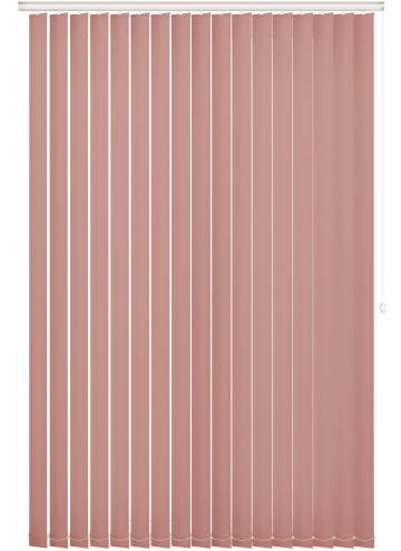 Replacement Vertical Blind Slats Bella Blackout Blush Pink