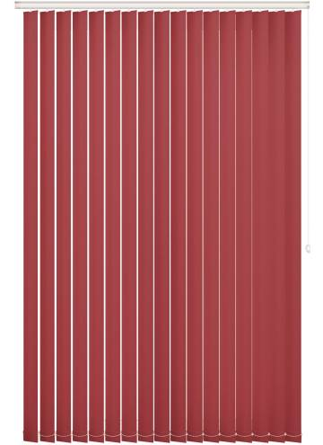 Replacement Vertical Blind Slats Bella Blackout Chilli Red