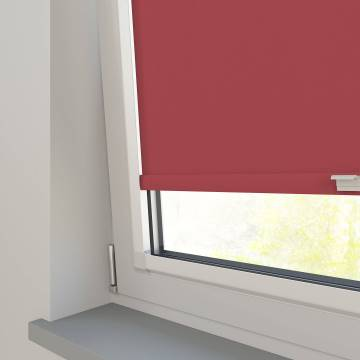 Perfect Fit Roller Blinds Bella Blackout Chilli Red