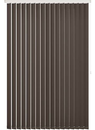 Replacement Vertical Blind Slats Bella Blackout Chocolate Brown
